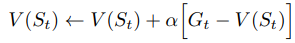 Monte Carlo Value Function update happens when the episode is over