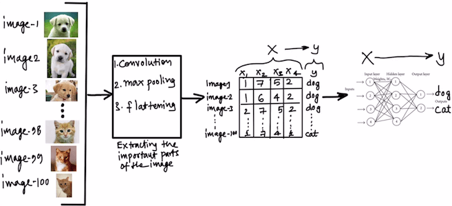 Overall Flow of a Convolutional Neural Network (CNN)