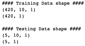 Splitting the data into training and testing for LSTM